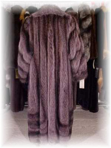 Full Skin Raccoon Design Fur Coat