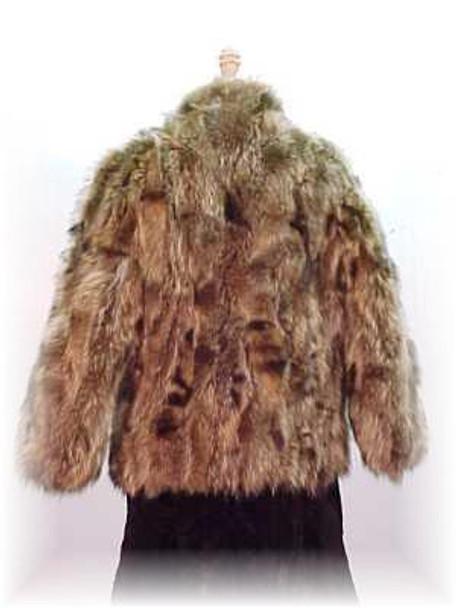 Sectional Raccoon Fur Jacket 2