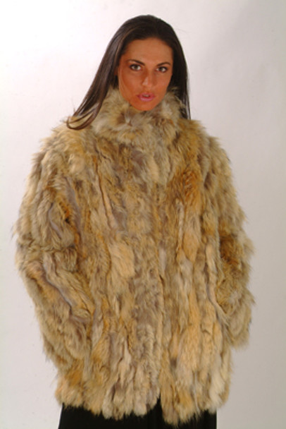Sectional Coyote Fur Jacket