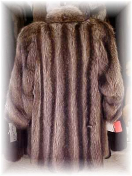 Full Skin Raccoon Fur Jacket
