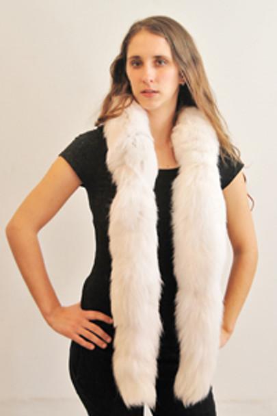 White Fox Boa