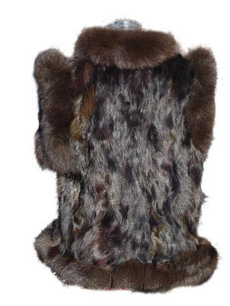 Brown Beaver Vest and Brown Trim