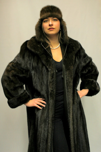 Mahogany Mink Fur Coat 10