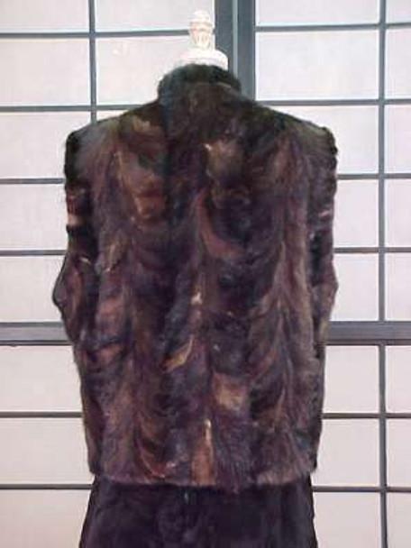 Fur Vest Brown Mink