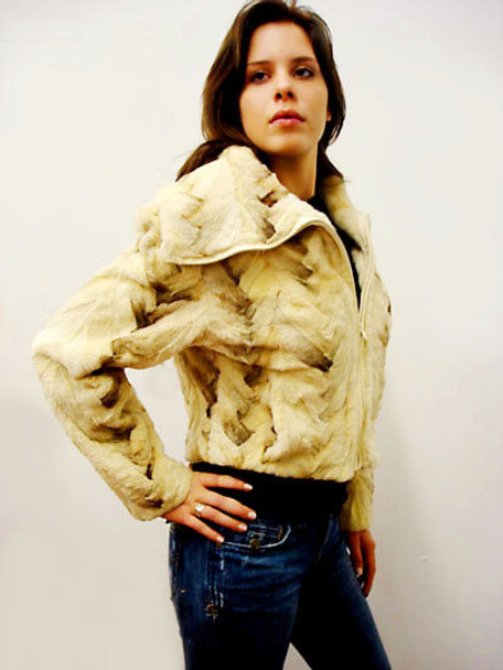 Snow Top Fox Fur Share Woman's Jacket