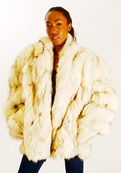 Multicolor Fox Fur Jacket