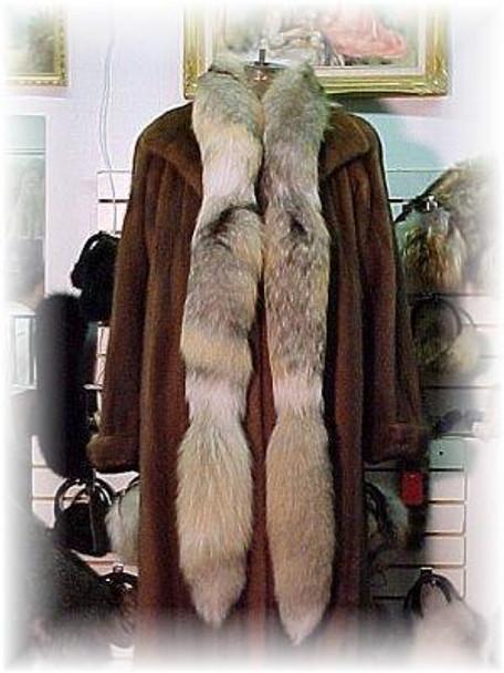Golden Island Fox Fur Tail Boa