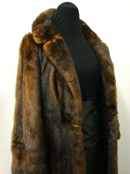 Vintage Brown Mink Fur Bolero And Coat