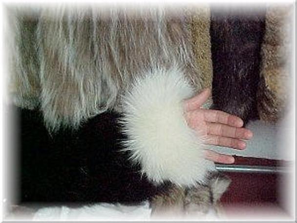 Full Skin Fox Fur Cuffs 9