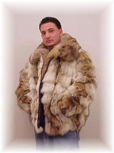 Coyote Fur Coat >> Coyote Fur Bomber Jacket With Full Skin Fur Collar