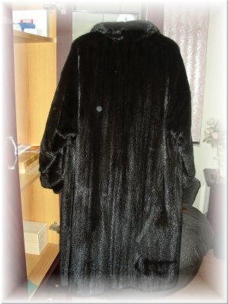 Black Ranch Mink Fur Coat