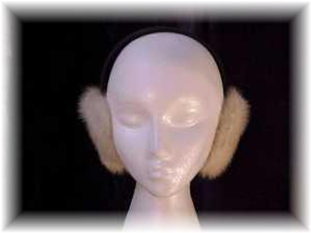 Tourmaline Mink Fur Earmuffs