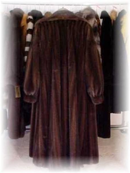 Mahogany Mink Fur Coat 3
