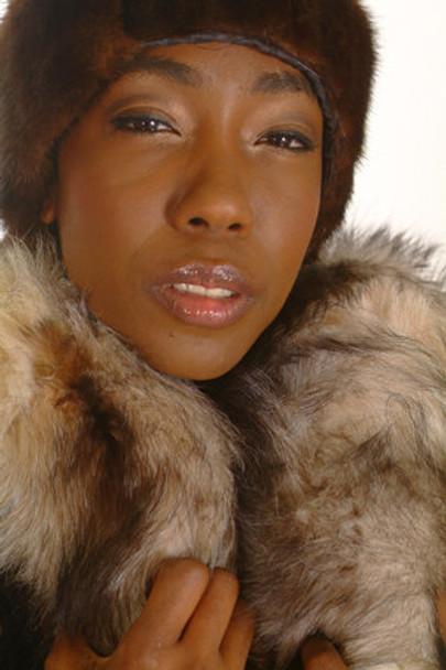 Crystal Fox Fur Design Ladies Scarf