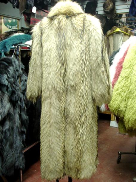 Vintage Tanuki Long Coat With Tuxedo Collar