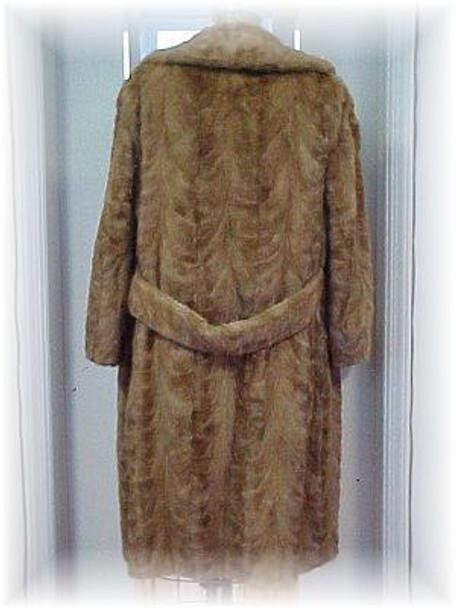 Sectional Mink Fur Coat