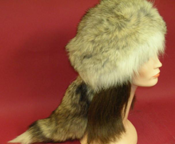 Coyote Full skin Daniel Boone Hat