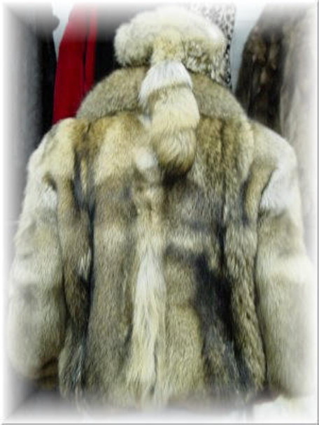Full Skin Coyote Fur Jacket