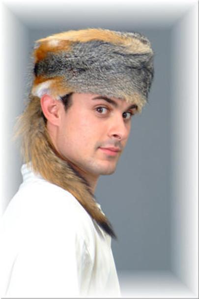Gray Fox Fur Boone Hat 1