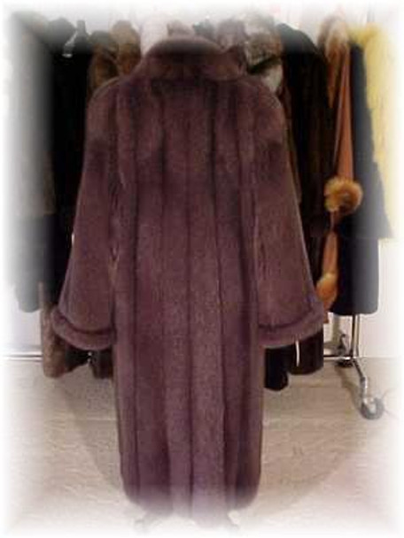Dyed Brown Fox Fur Coat - Full Skin
