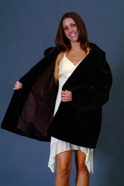 Vintage Fur Mink Jacket With Hood