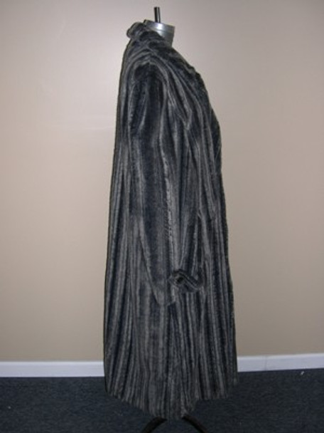 Men's Faux Arctic Mink Long Coat