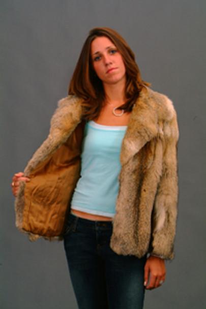 Vintage Fur Coyote Jacket