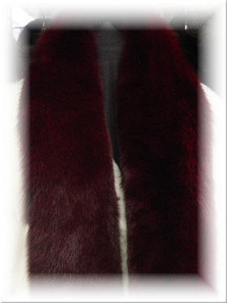 Dyed Burgundy Full Skin Fox Boa