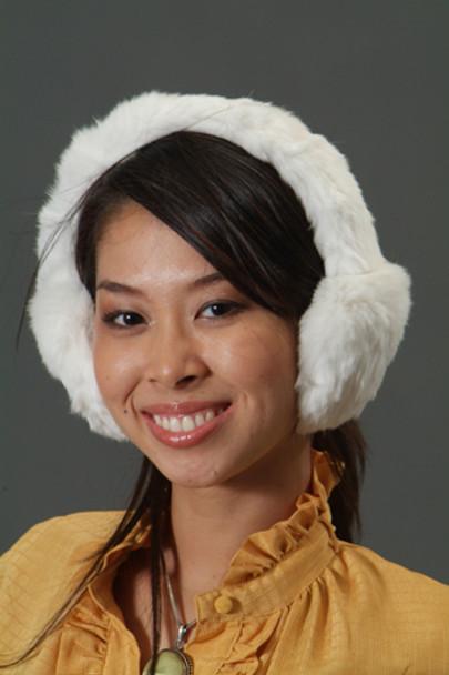 White Rabbit Fur Earmuffs