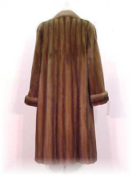 Mahogany Mink Fur Coat 6