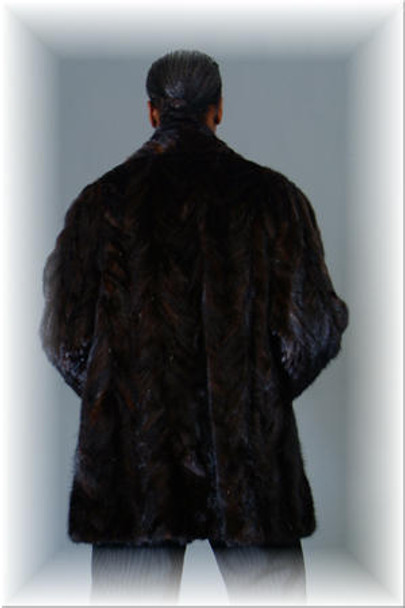 3/4 Mink Fur Jacket w/ Notch Collar 1