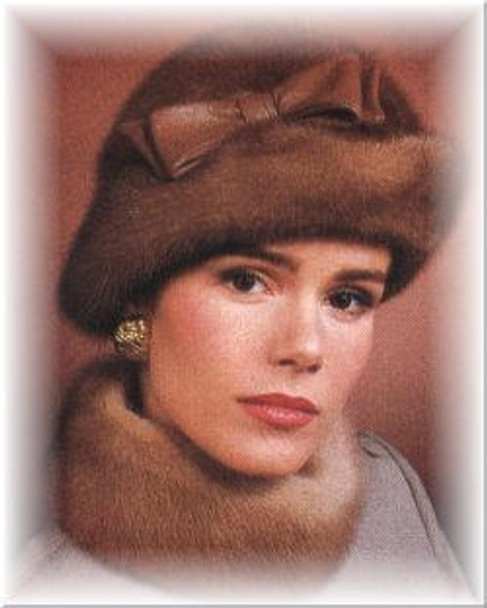 Mink Profile Brim Leather Fur Hat