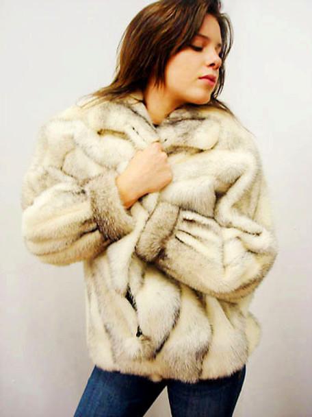 Vintage Mink Fur Bomber Jacket