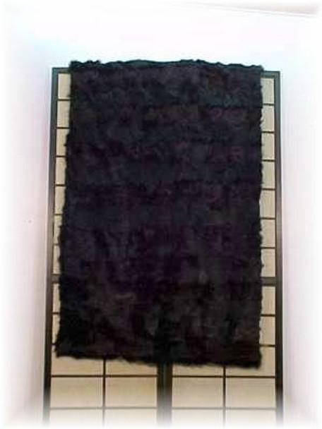 Dyed Black Goat Fur Blanket