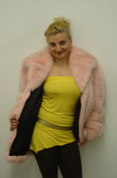 Pink Fox Fur Full Pelt Jacket