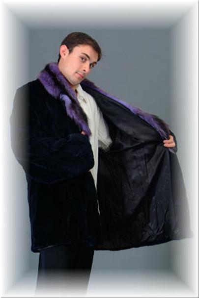 3/4 Mink Fur Jacket w/ Notch Fur Collar