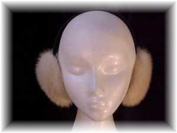 White Mink Earmuffs