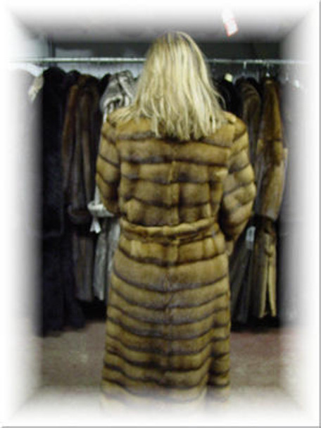 Design Full Skin Whiskey Mink Coat
