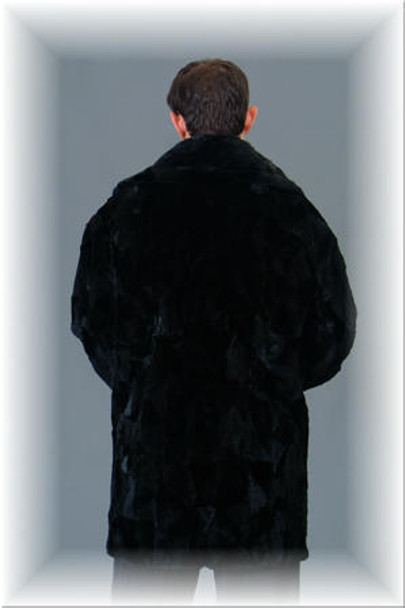 3/4 Mink Fur Jacket w/ Notch Collar 7