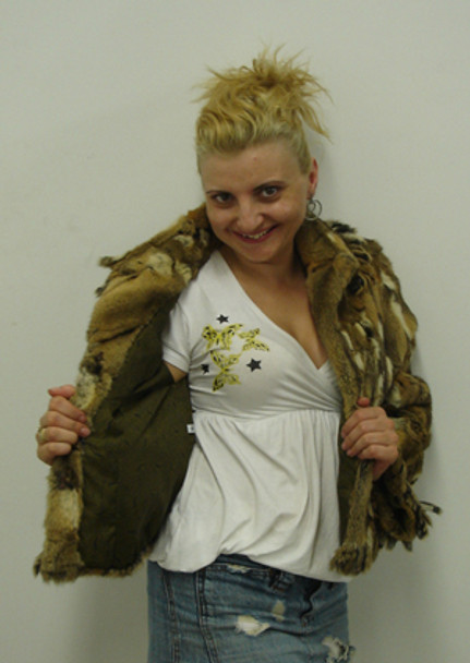 Weasel Design Flair Fur Jacket with Cuffs