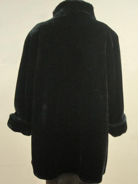 Faux Fur Black Beaver Jacket