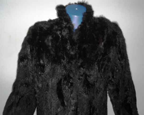 Vintage Fox Belly Pieces Coat
