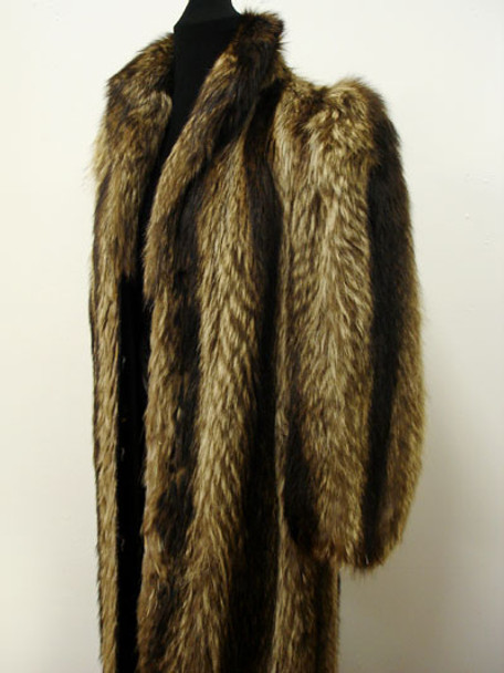 Vintage Fur Raccoon Woman's Coat