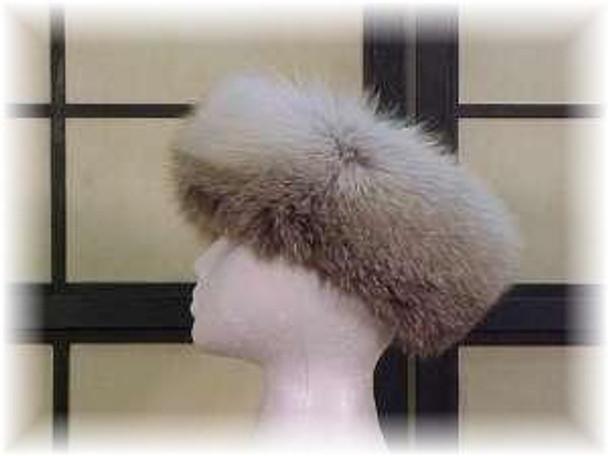Full Skin Cross Fox Fur Head Wrap 2