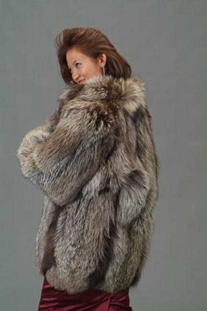 Indigo Fox Fur Jacket