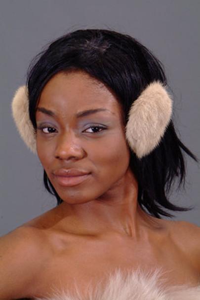 Beige Mink Fur Earmuffs