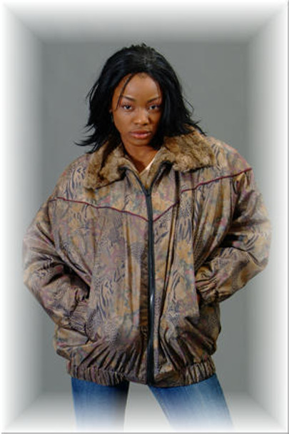 Asti Beaver Fur Bomber Jacket