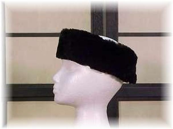 Full Skin Sheared Ranch Mink Fur Head Wrap