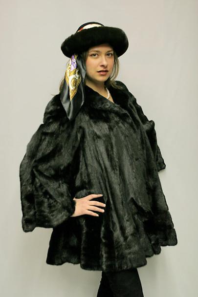 Black Mink Fur Design