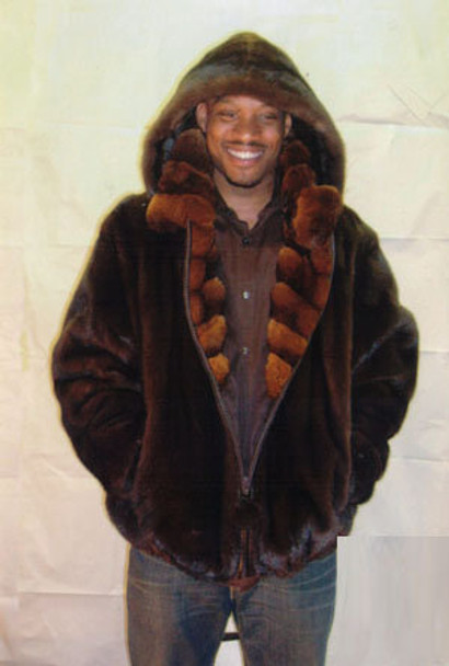 Mens Mink Full Pelt Bomber Fur Jacket 2